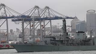 HMS Montrose Departs Auckland New Zealand - 2018