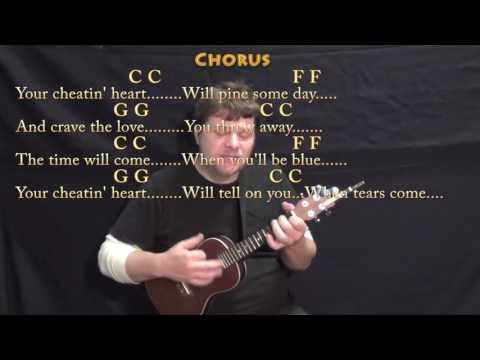 Your Cheatin' Heart (Hank Williams) Ukulele Cover Lesson with Chords/Lyrics