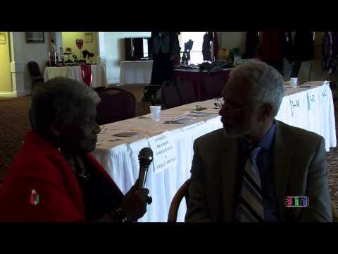 Queen Ann Cannon interviews Dr. Clayborne Carson, professor at Stanford University