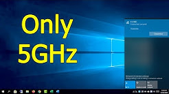 I just want 5 GHz Wi-Fi network, how to do | Windows 10/8/7