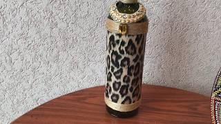 312. Декор бутылки в Африканском стиле.
