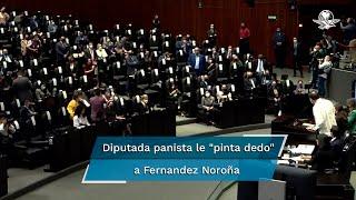 """El vicecoordinador del PT en la Cámara de Diputados acusó a la diputada Annia Sarahí Cárdenas de gritarle """"hipócrita"""", y que en la Legislatura pasada le """"pintó dedo"""" desde su curul"""