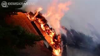 Uitslaande woningbrand Holwierde geblust