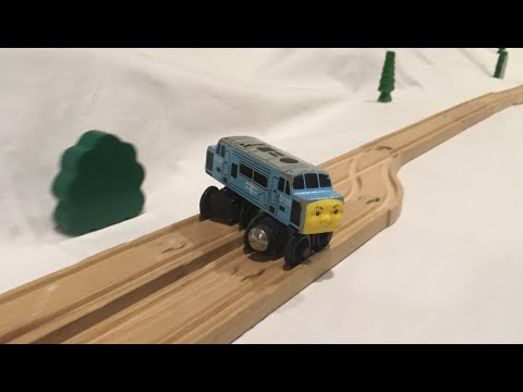 Watch a toy train pull of some pretty slick stunts