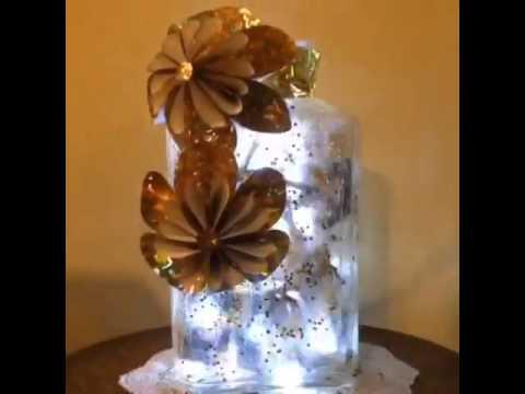Botella decorada con luces de navidad youtube - Botellas con luces ...