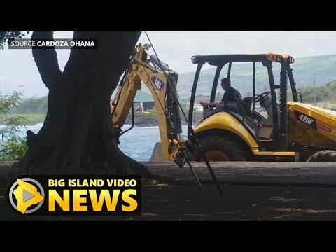 Confrontation Halts Punaluu Excavation (Jun. 26, 2017)