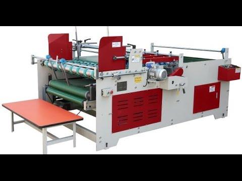Semi Automatic Corrugated Carton Folding Gluing Machine / Corrugated Box  Folder Gluer