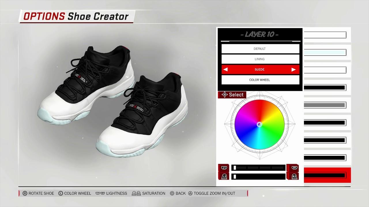NBA 2K18 Shoe creator #NBA2K18* Jordan tuxedo 11s