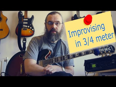 Improvising In 3/4 - Jazz Guitar Lesson On Soloing On A Jazz Waltz