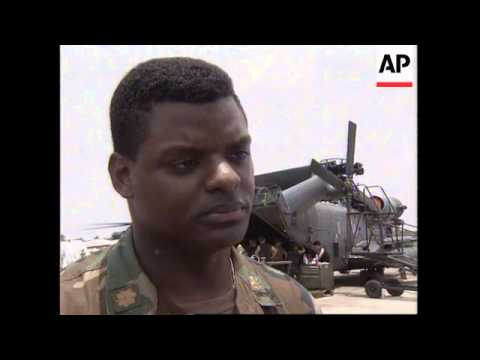 SIERRA LEONE: FREETOWN: US EVACUEES FLOWN IN FROM LIBERIA