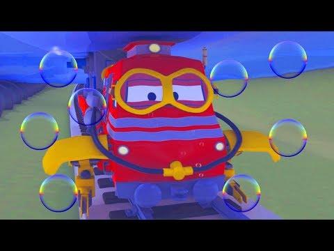 La Gran Inundación ! Troy el Tren en la Cuidad de Trenes  🚉 l Dibujos animados para niños