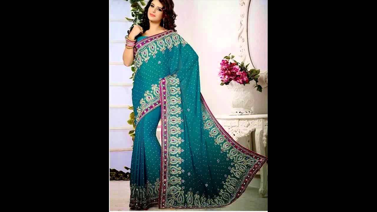 Stylish South Indian Bridal Saree Designs For Party Wear - YouTube