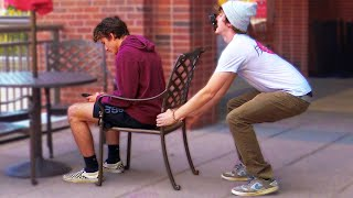 Chair Pulling Prank!! First Person
