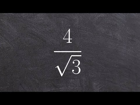 Algebra 1 - Rationalizing the denominator with a radical - Online tutor - Free Math tutor, 4/root(3)