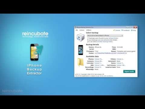 How to install and activate iPhone Backup Extractor - YouTube