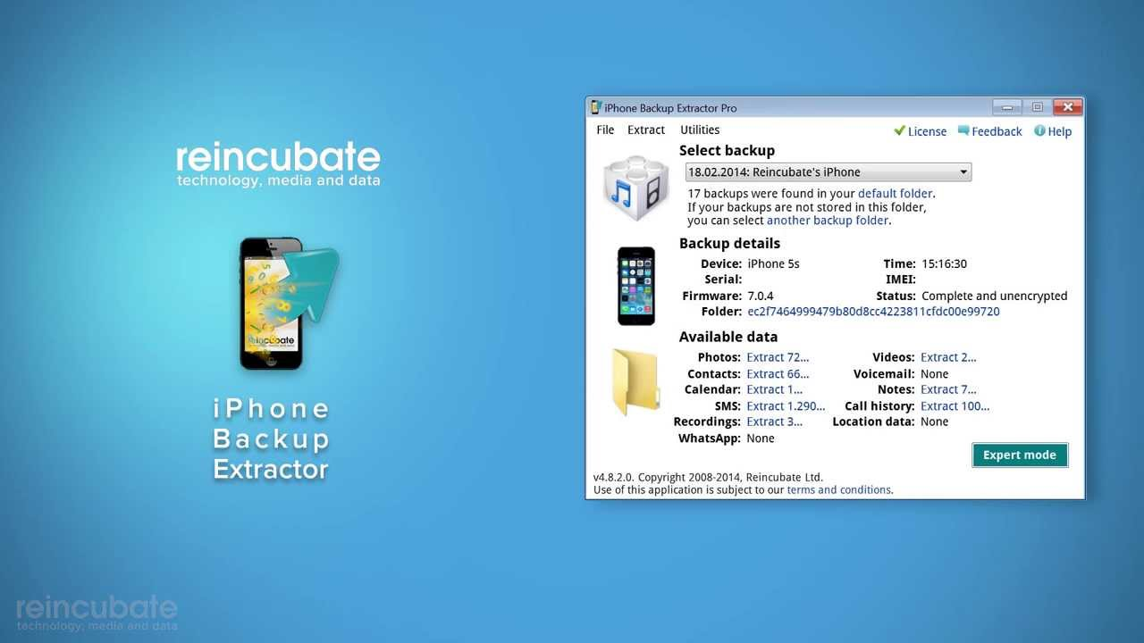 How to install and activate your iPhone Backup Extractor for ...