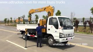Durable ISUZU 4Ton Truck Loader Crane for goods transport