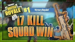 MY BEST WIN - 17 Kill squad win (Fortnite)