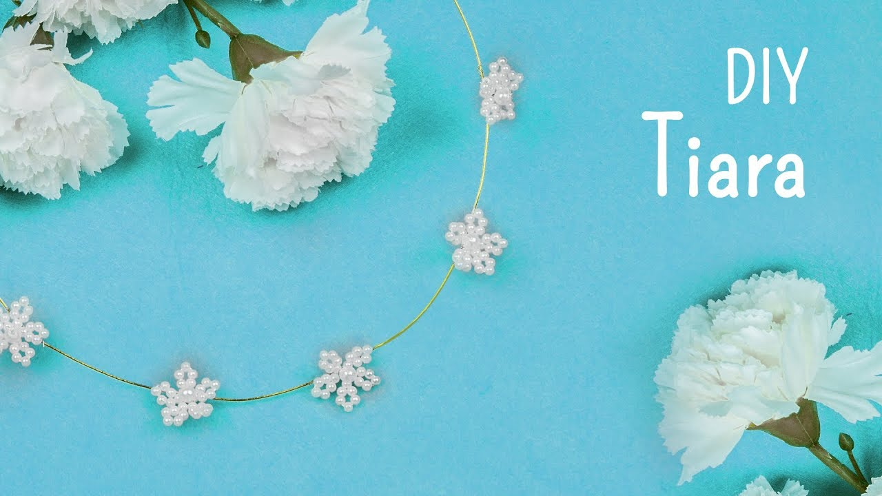 DIY beads flower Tiara | Bridal Hair accessories | Beads art - YouTube