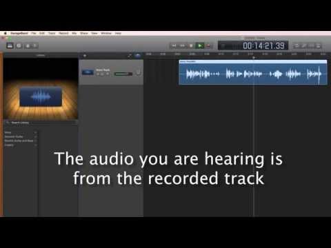 Garageband 10 Tutorial Part 3: Recording a voice track