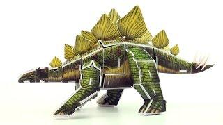 Stegosaurus DINO 3D puzzle - Dinosaur model built in 3D  - Build a Stegosaurus for kids