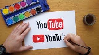 How to draw YouTube logos - Old vs. New YouTube logo