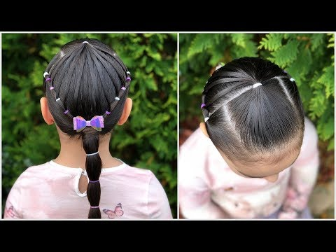 Peinado Para Ninas Con Ligas Arcoiris Y Coleta Peinados Faciles Y
