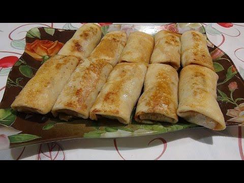 #Блинчики с мясом и рисом. Pancakes with meat and rice.