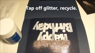 DIY Jumbo Happy Birthday handmade glitter card BLING!