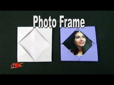 How to make a Paper Photo Frame | Learn origami |  JK Origami 002