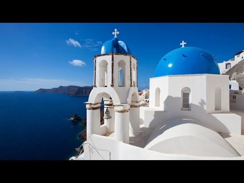 (Nature Relaxation Video) Greek Islands Santorini Extended L