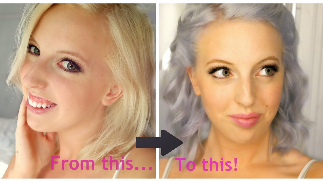 From Blonde To Silver Lilac Pastel Blue Hair Youtube