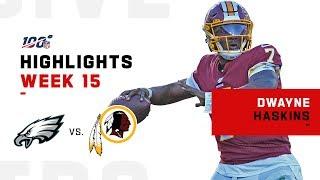 Dwayne Haskins Highlights vs. Eagles