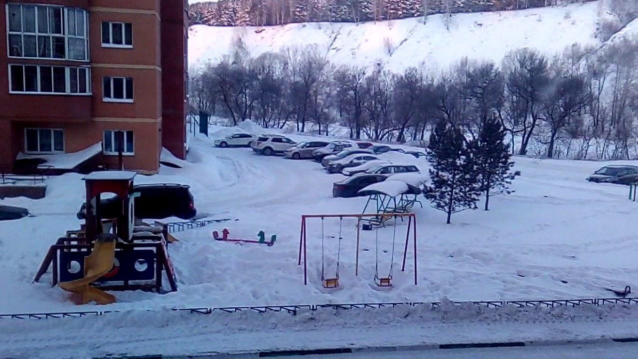 Сильные морозы.г.Новосибирск.21.01.2018 (м-н Весенний)