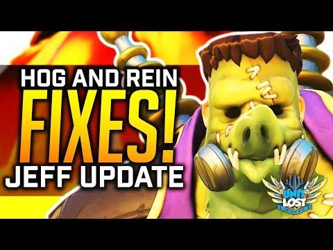 Overwatch - Roadhog and Reinhardt FIXES! - Jeff Update - Widowmaker BUGS!