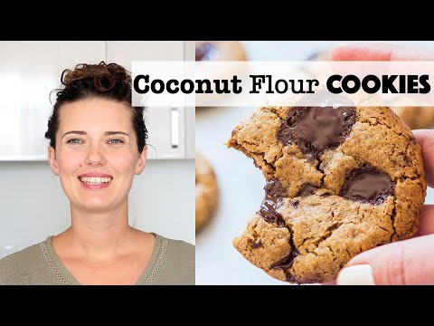 Healthier Chocolate Chip Cookies with Coconut Flour