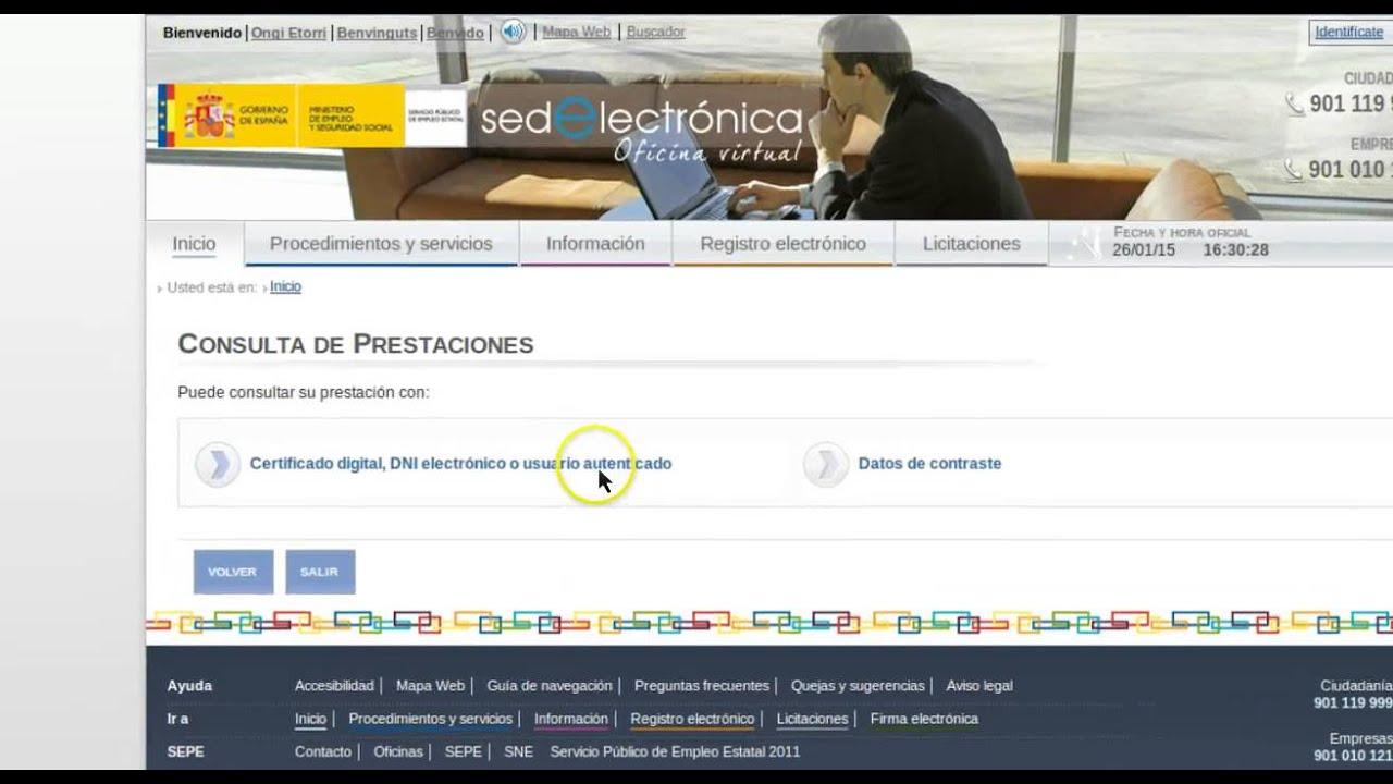 Formacion Online Sepe Consulta De La Prestacion Por Desempleo