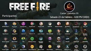 ¡TORNEO DE YOUTUBERS DE FREE FIRE! |