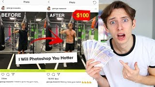 I HIRED STRANGERS on FIVERR to FAKE MY INSTAGRAM for A WHOLE WEEK *PHOTOSHOPPING MY INSTAGRAM*