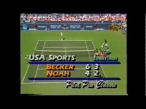 Boris Becker vs Yannick Noah 1987 Indian Wells 3/3