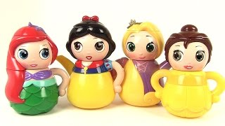 Princesses Disney Service à Thé Ariel Raiponce Blanche Neige Belle Q Tea Set