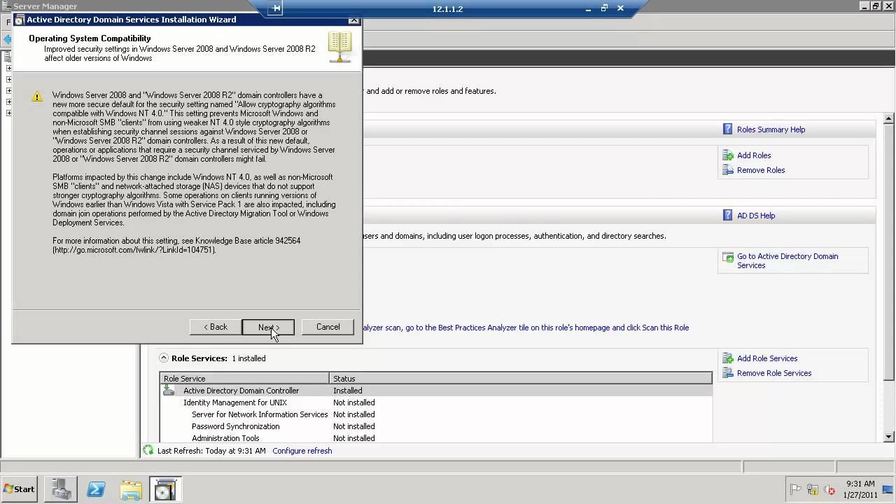 Part 2: Configure Windows 2008 R2 Domain Controller