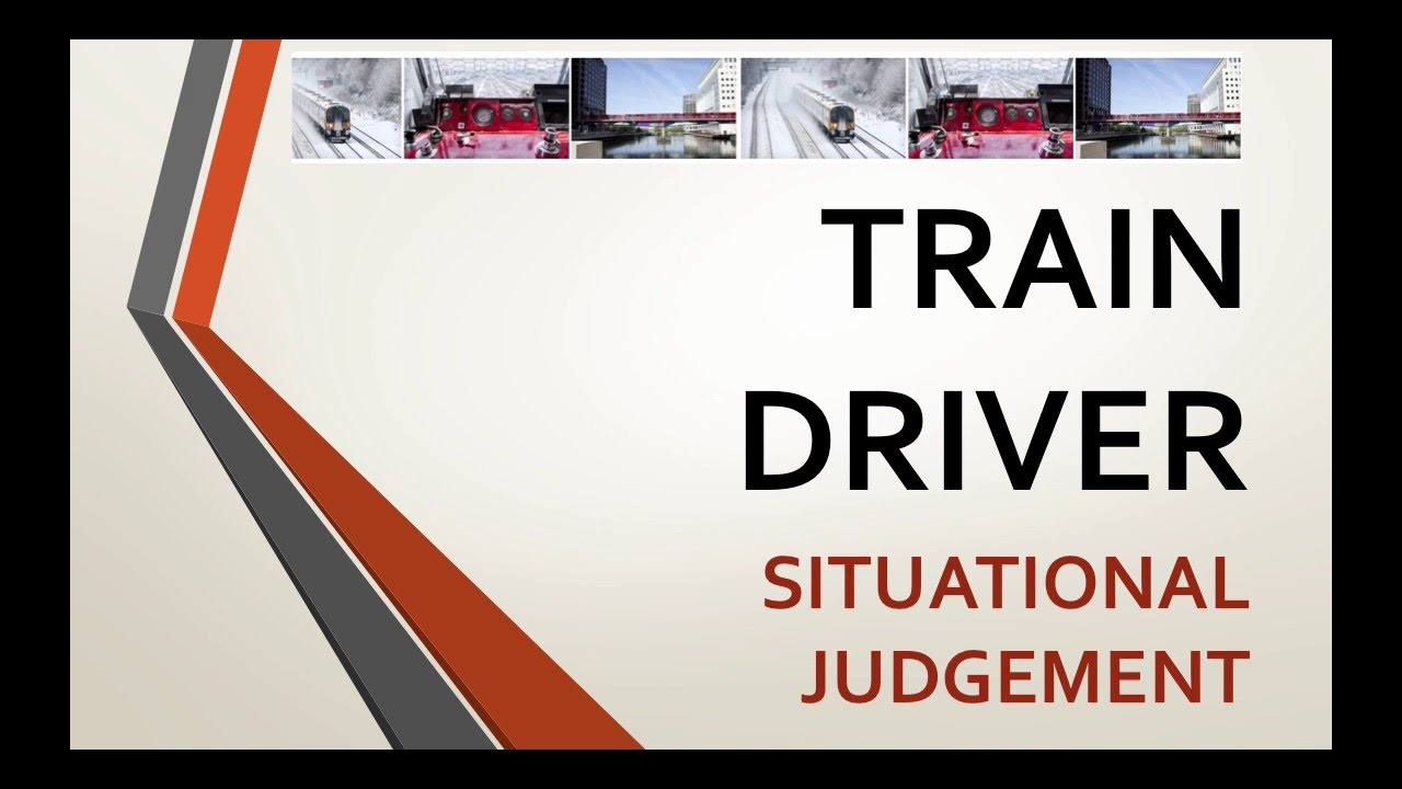 how to become a trainee train driver situational judgement tests youtube. Black Bedroom Furniture Sets. Home Design Ideas