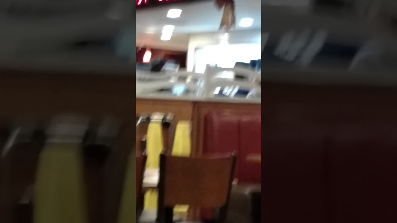 Christmas Day Denny's employees love triangle blow up! - YouTube
