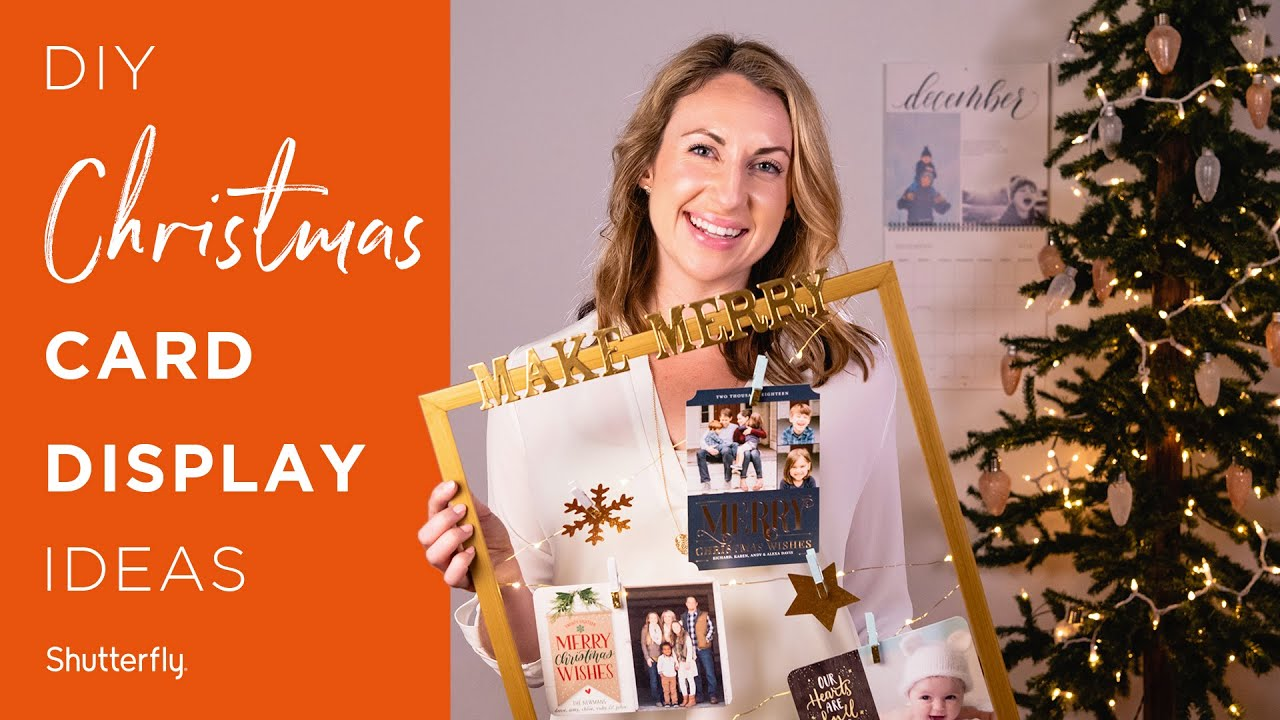 Christmas Card Displays: 5 Easy DIY Ideas - YouTube