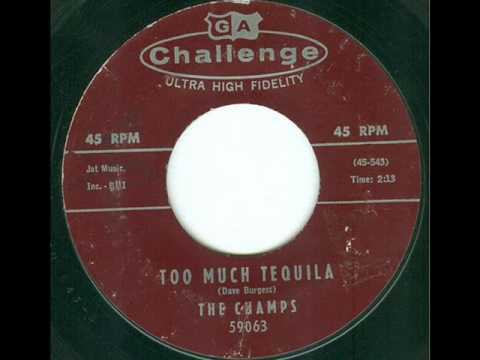 The Champs - Too Much Tequila (45 rpm)