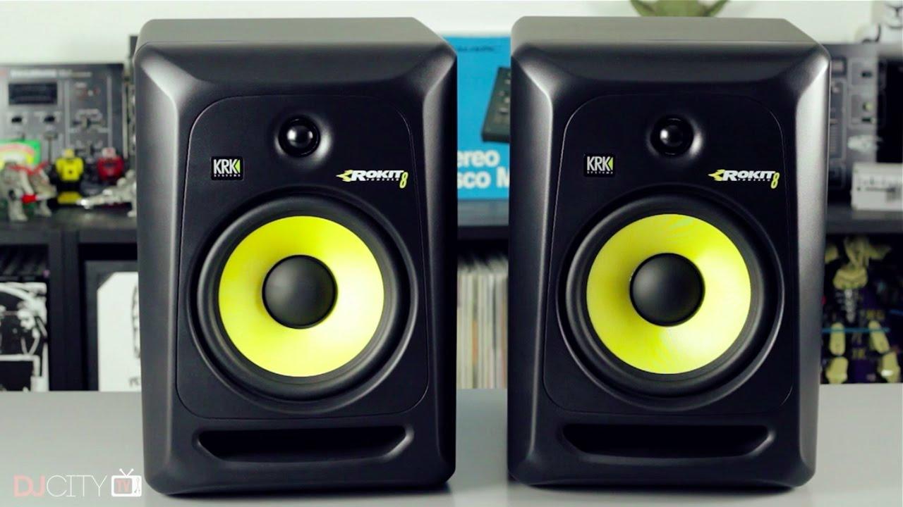 review krk rokit 8 g3 studio monitors youtube