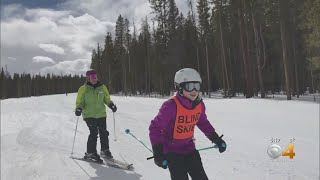 Blind Skiers Tackle Runs & Jumps With Help Of Multiple Organizations