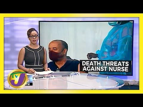 Death Threat to Nurse who Gave Jamaican Journalist Sharpe Vaccine   TVJ News
