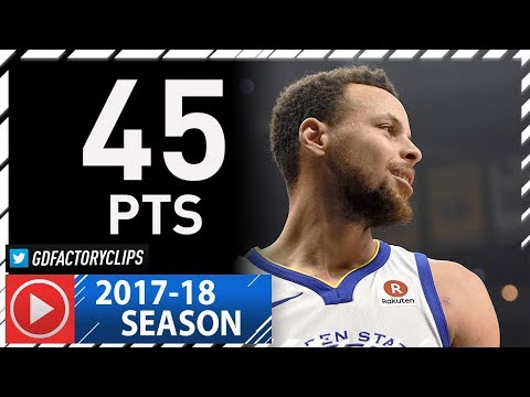 Stephen Curry CRAZY Full Highlights vs Clippers (2018.01.06) - 45 Pts, 8 Threes in 3 Qtrs!